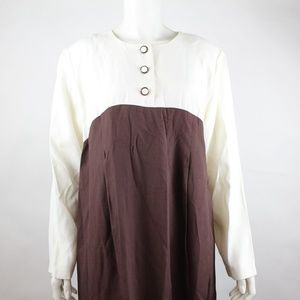 Hayley Too Women's Tunic Blouse Size M Solid Brown